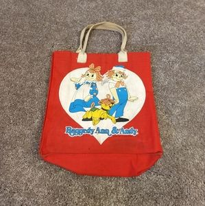 Vintage Raggedy Ann & Andy small Tote 1978